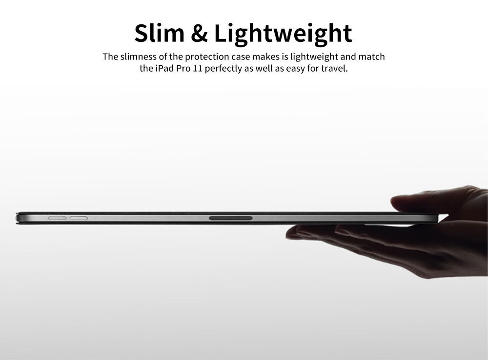 Tablet Protection Case for iPad Pro 11 2018 New iPad 11 Protective Case Tri-fold Intelligent Smart Magnetic Leather Shell Case Lightweight 3