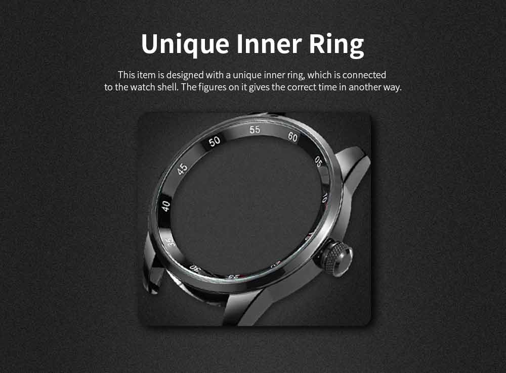 Wrist Watch for Men, Hard-wearing Waterproof Luminous Quartz Watch with Japanese Movement Breathable Genuine Leather Strap 3