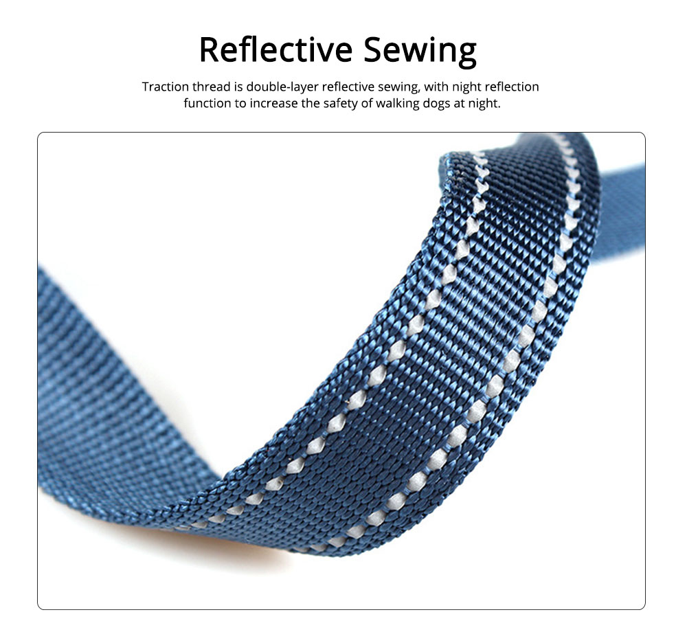 Dog Traction Thread Zinc Alloy Steel Nylon Material String Dog Leash Reflective Sewing Strong Dog Chain 1