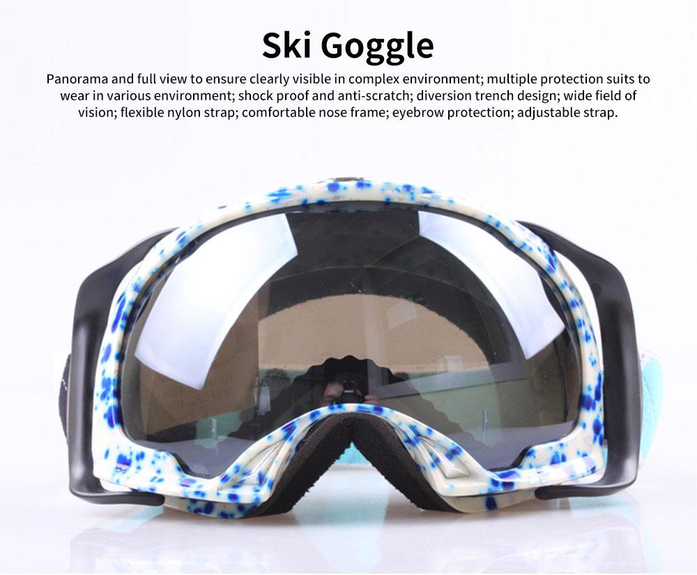 Ski Glasses Double-layer Anti-fog Goggles Anti-snow Glasses Outdoor Sports Goggles Ski Glasses UV400 Radiation Protection Blue 0