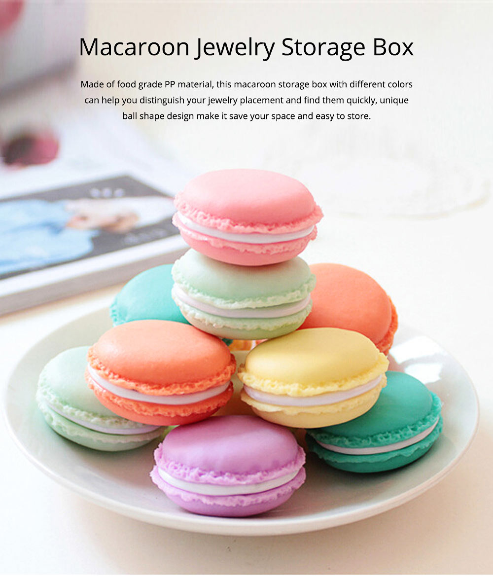 Mini Macaron Box Colorful Macaron Jewelry Storage Box Cute Organizer Case Container 0