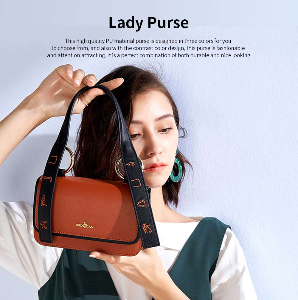 2019 Latest Fashionable Women Purse, PU Magnetic Snap Shoulder Bag, Messenger Bag for Ladies Easy Matching 0