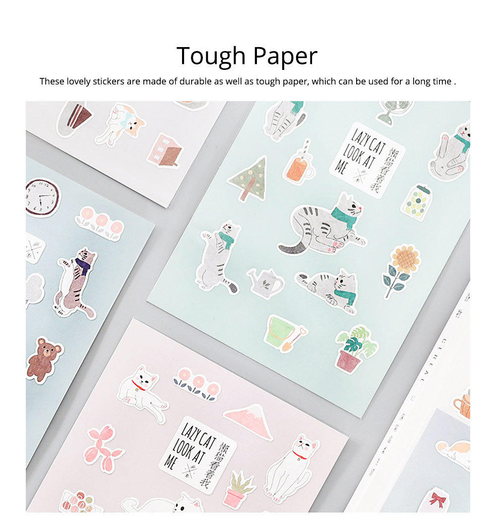 Notebook Decoration Sticker with Cute Different Pattern Bright Active Color Paper Sticker 5