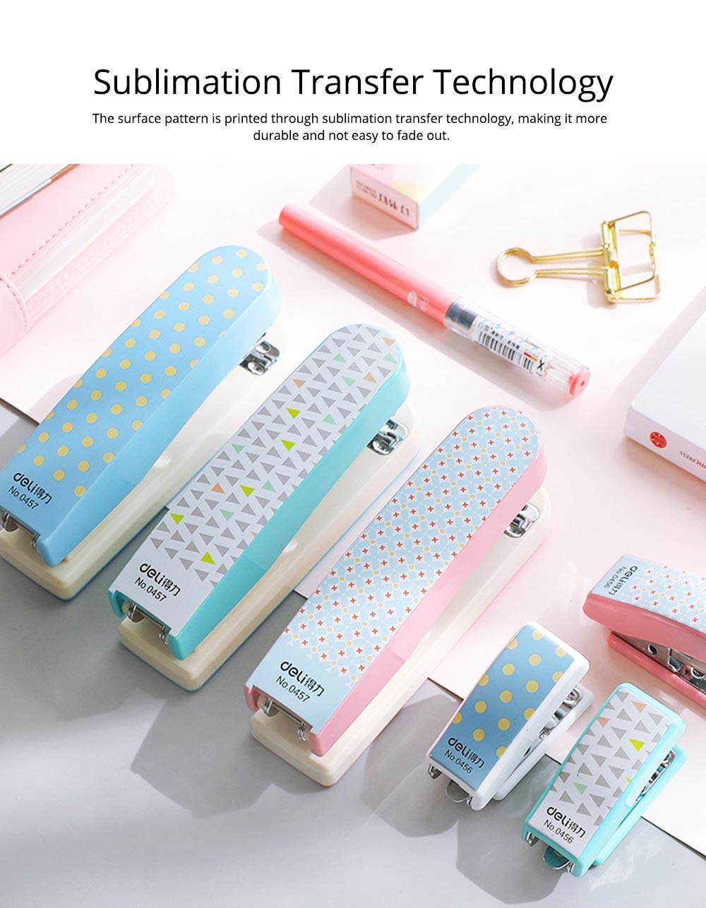 Geometric Mini Student Stapler Colorful Cute Polka Dot Stylish Stationery Stapler 2