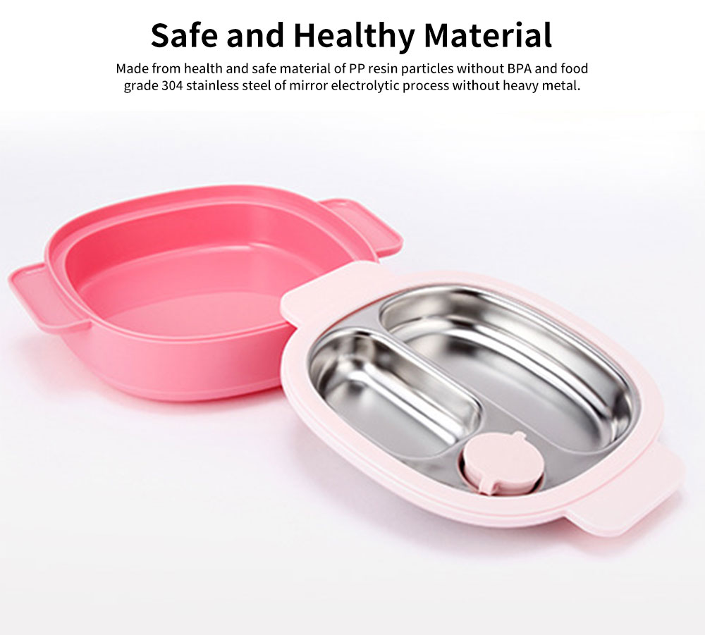 Temperature-lock Meal Box for Babies, Separation Removable Meal Boxes of Complementary Food for Infants Baby Tableware Thermal Lunch Box 1