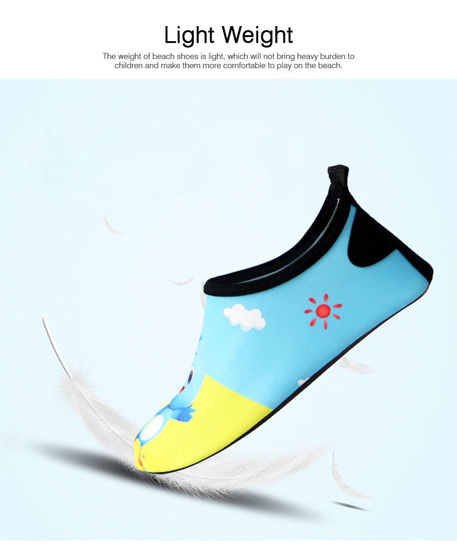 Kids EVA Rubber Soft Swimming Shoes for Swim Diving Wade Breathable Light Anti-slip Beachwear Shoes for Boy Girl 1