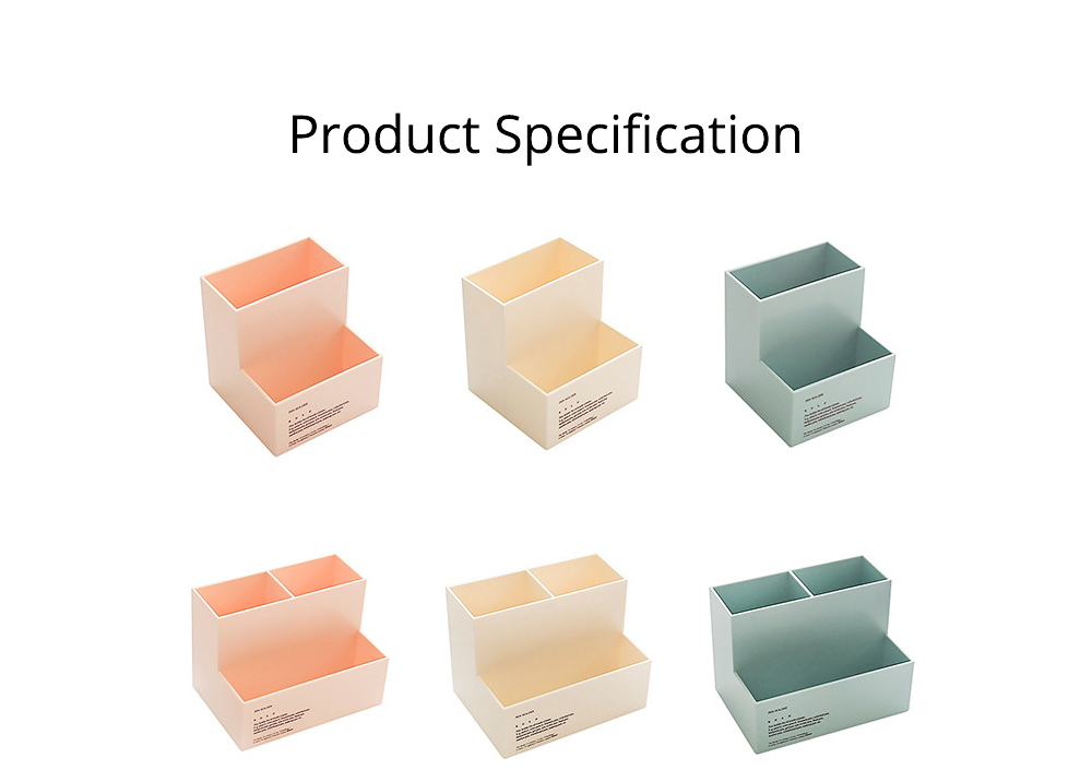 Cute Fashionable Student Pen Holder Table Organizer Storage Box Pencil Holder for Office Home Table 7
