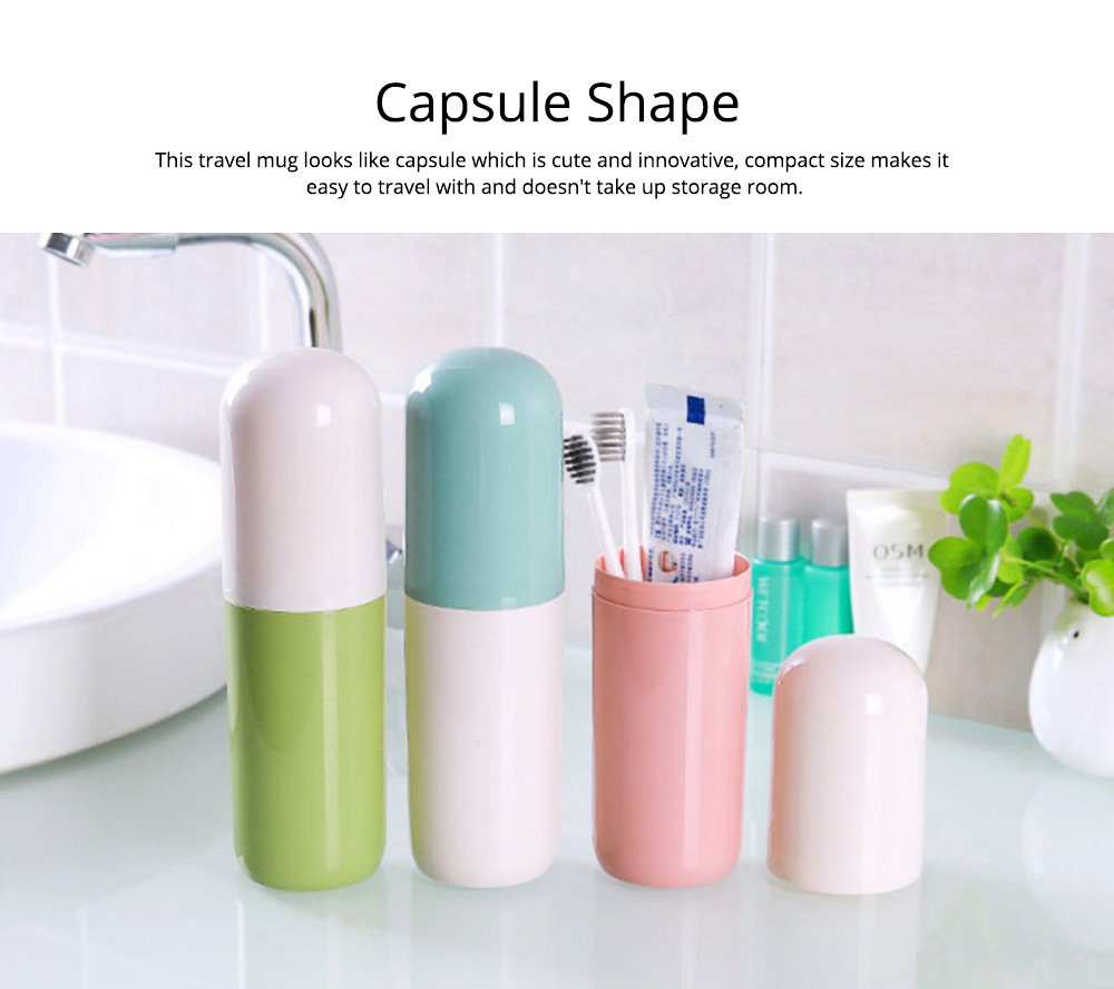 Toothbrush Holder Toothpaste Case Travel Containers Organizer Protect Storage Box for Travel Camping Outdoors 2