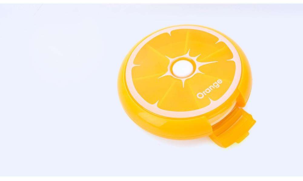 Rotate Button Mini Pill Box Plastic 7 Segmentation Pill Organizer Box for Pills & Tablets 2