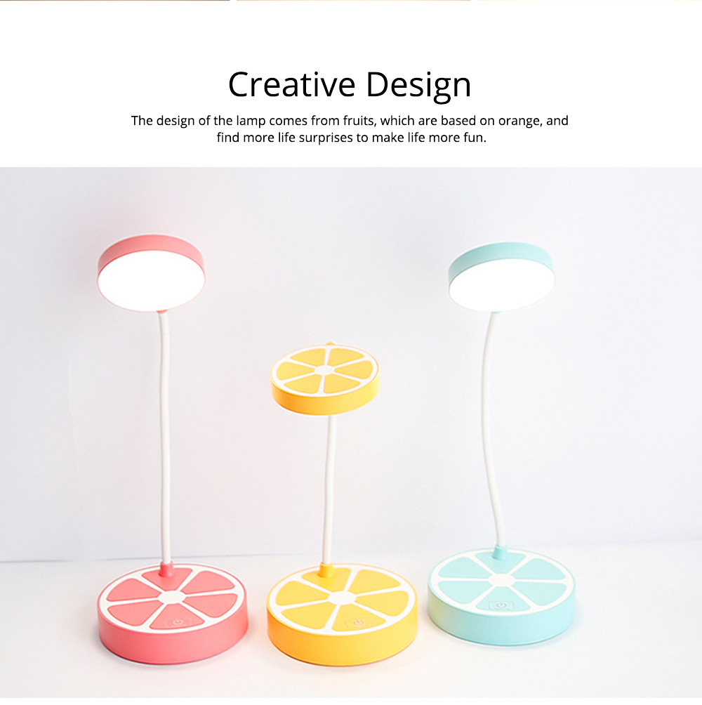 Rechargeable Students Candy Color LED Table Lamp Power-Saving Bedroom Desk Lamp 5
