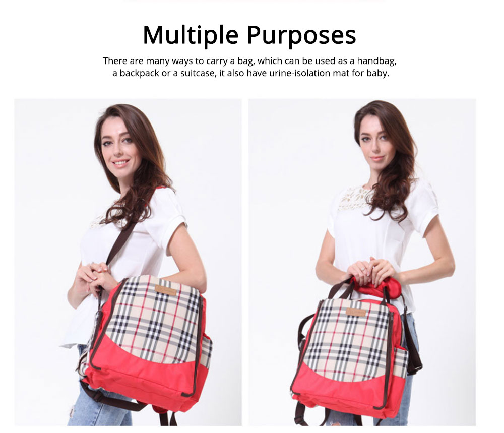 Waterproof Oxford Nylon Shoulder Bag Multiple Functions Cross-bag Large Capacity Suitcase for Mummy Backpack 4