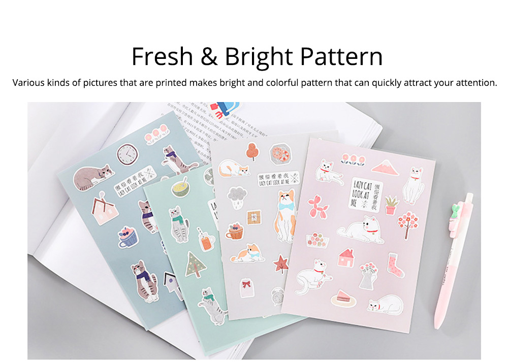 Notebook Decoration Sticker with Cute Different Pattern Bright Active Color Paper Sticker 1