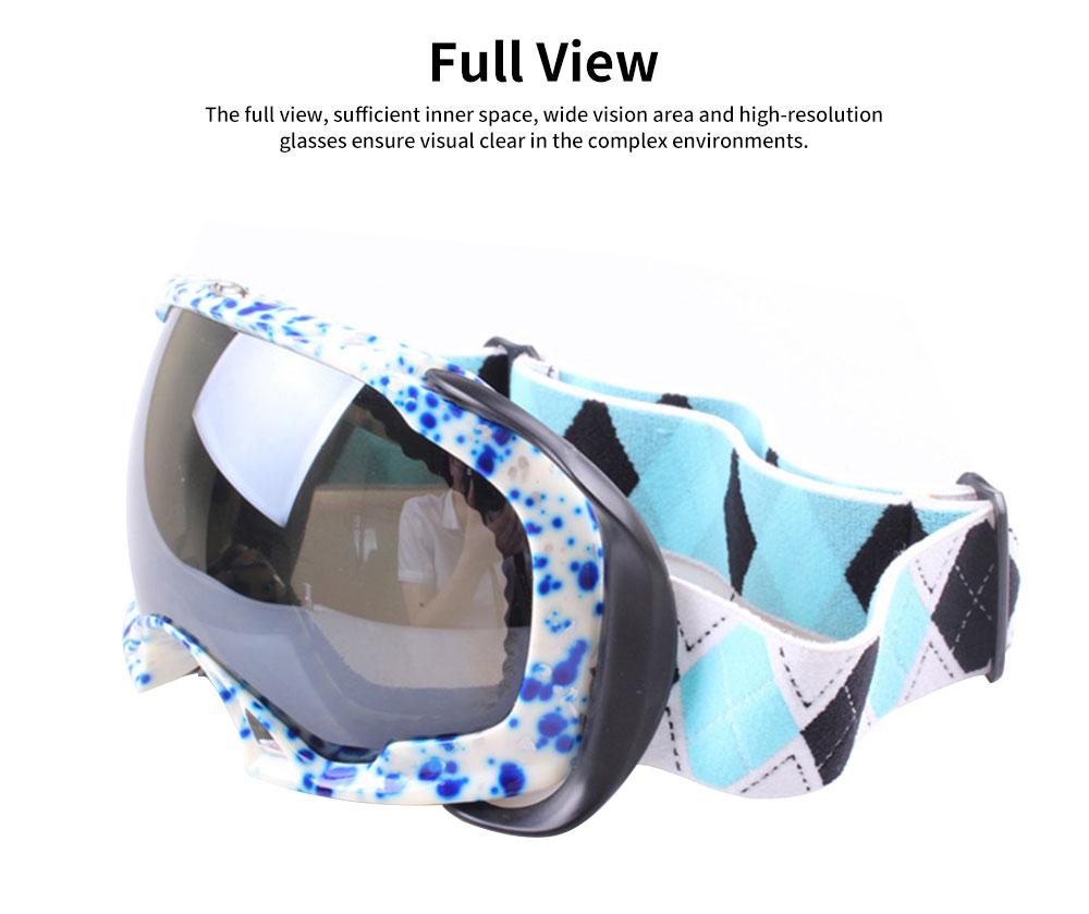 Ski Glasses Double-layer Anti-fog Goggles Anti-snow Glasses Outdoor Sports Goggles Ski Glasses UV400 Radiation Protection Blue 1