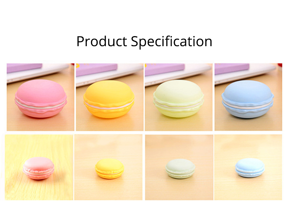 Mini Macaron Box Colorful Macaron Jewelry Storage Box Cute Organizer Case Container 6
