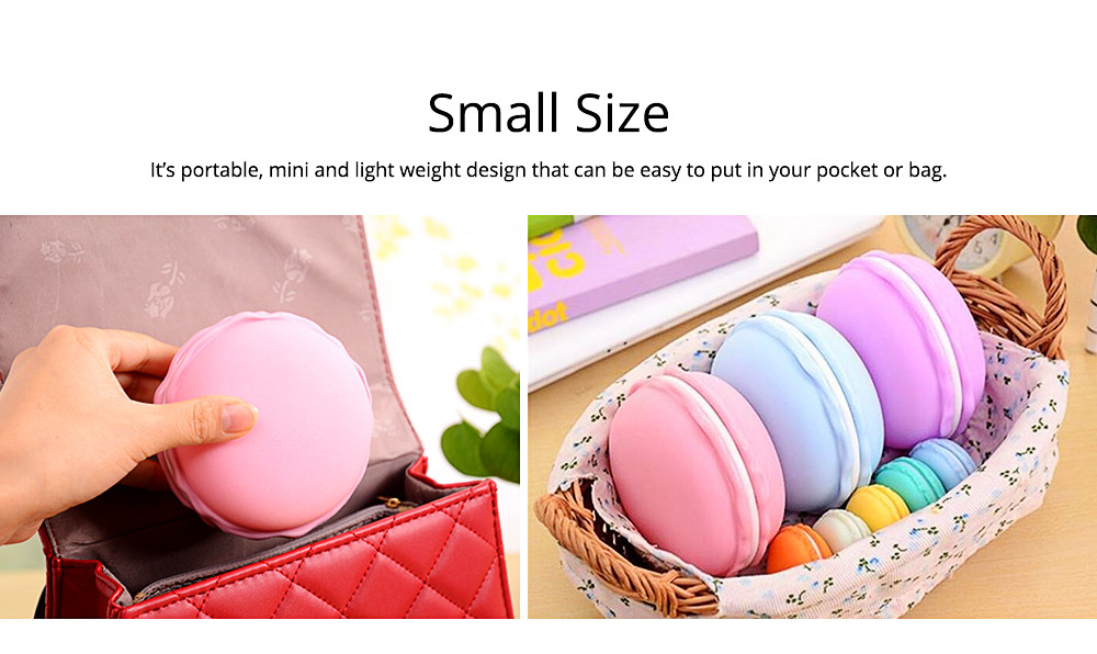 Mini Macaron Box Colorful Macaron Jewelry Storage Box Cute Organizer Case Container 2