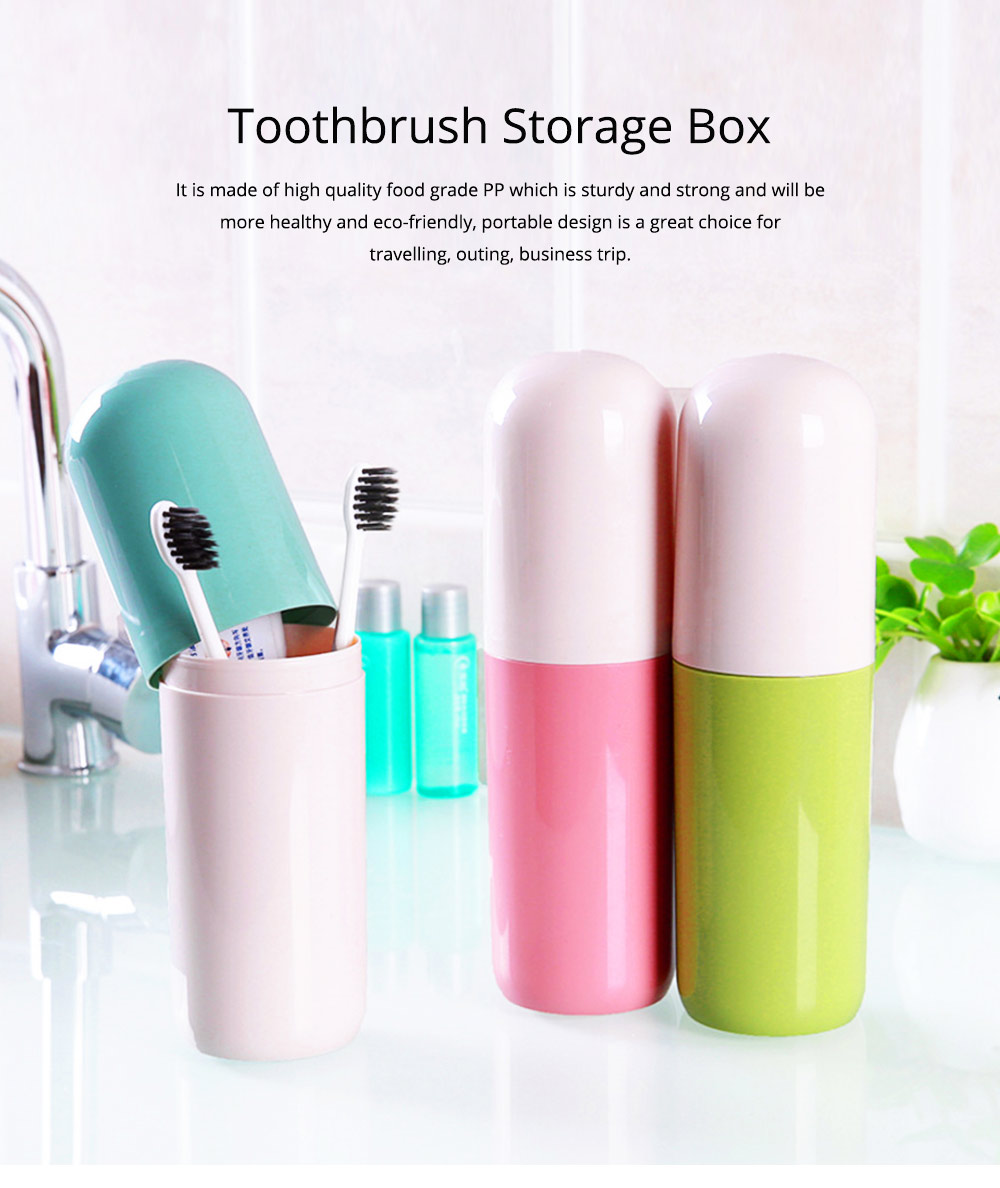 Toothbrush Holder Toothpaste Case Travel Containers Organizer Protect Storage Box for Travel Camping Outdoors 0