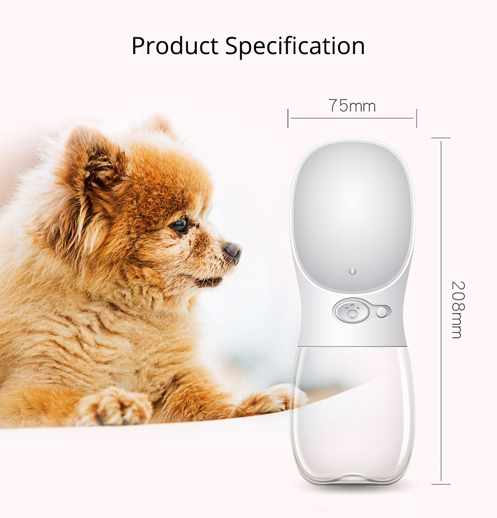 Pet Eco-friendly Drinking Cup Portable Drinking Bowl with Two Colors for Travel Outside 9
