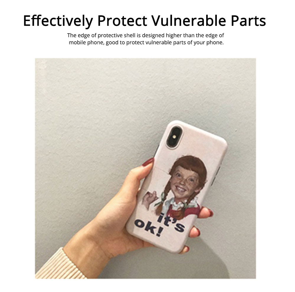 TPU Phone Shell Soft Accessories Compatible for iPhone 6 6s 7 8 XS Max XR 7P 8P with Girl Print Fully Enclosed Protective Case 3