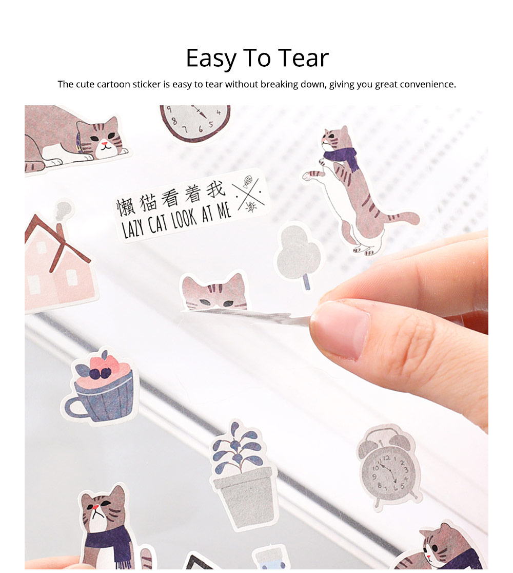 Notebook Decoration Sticker with Cute Different Pattern Bright Active Color Paper Sticker 4