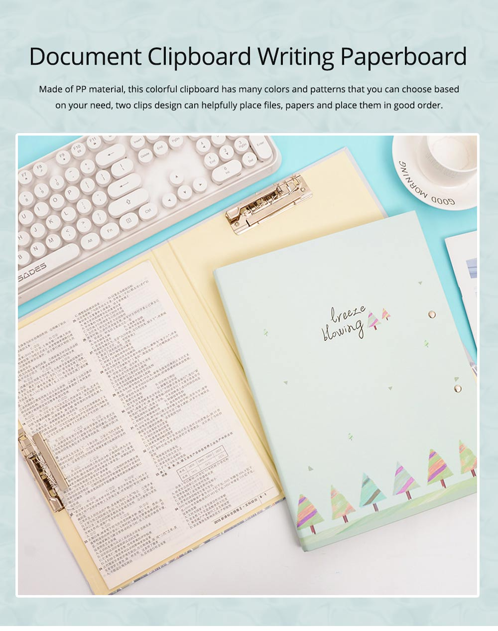 A4 Paper Size Document Clipboard Writing Paperboard Profile Clip for Student Teacher Officer 0
