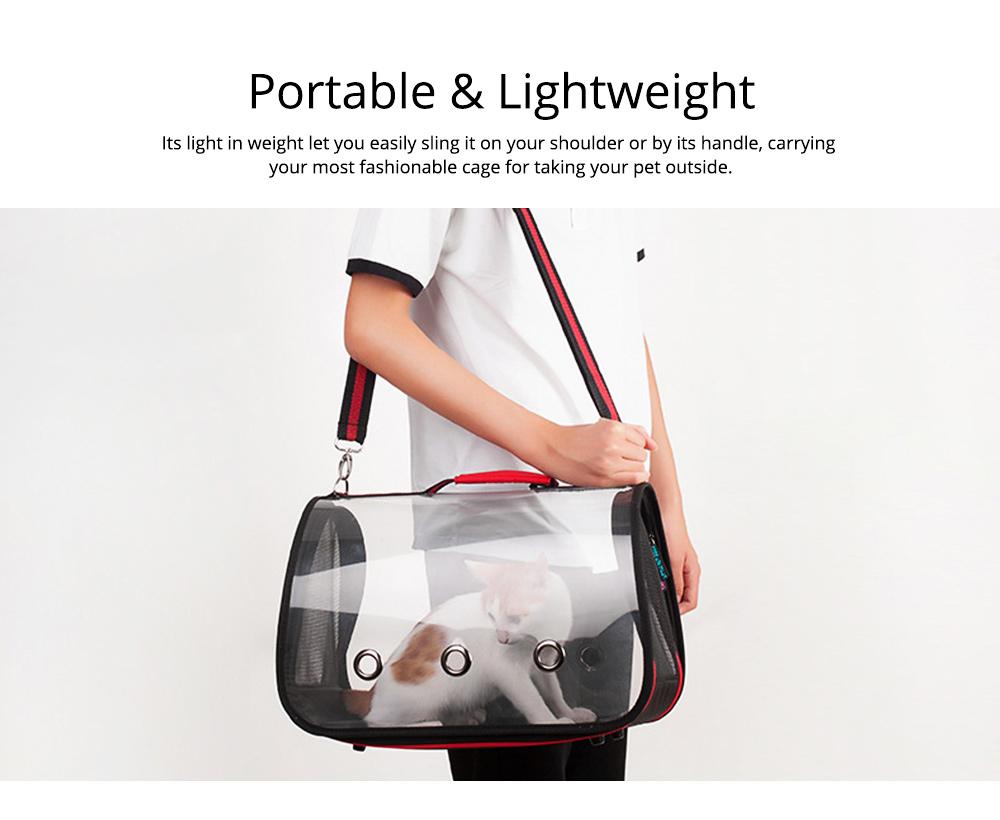 Transparent Pet Carrier Single-shouldered Handheld Cat Bag For Cat Dog for Outdoor Use 9