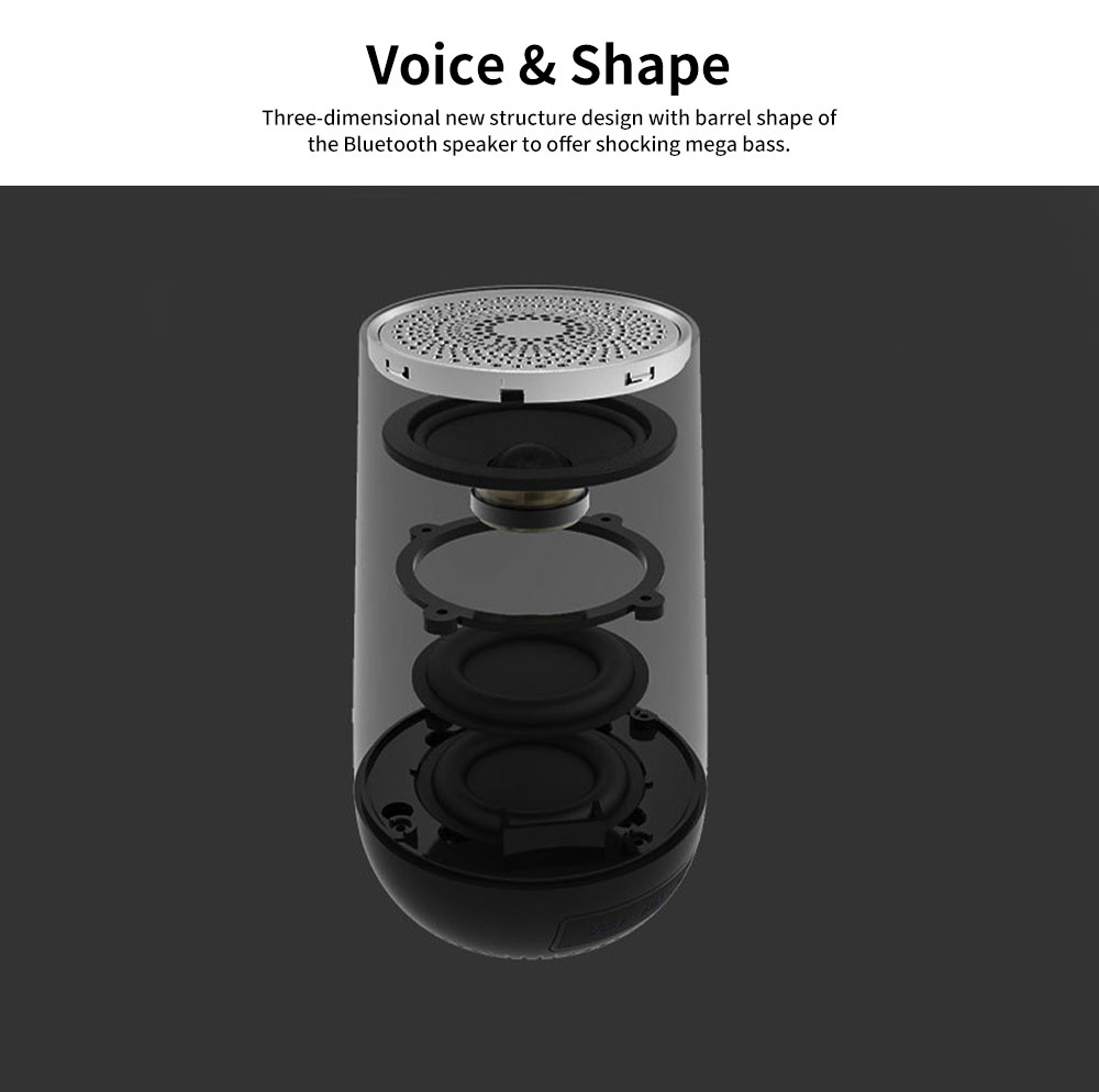 New Style Portable Wireless Bluetooth 4.2 Speaker Wireless 30M Bluetooth Subwoofer Vehicle-mounted Stereo Bluetooth Speaker 1