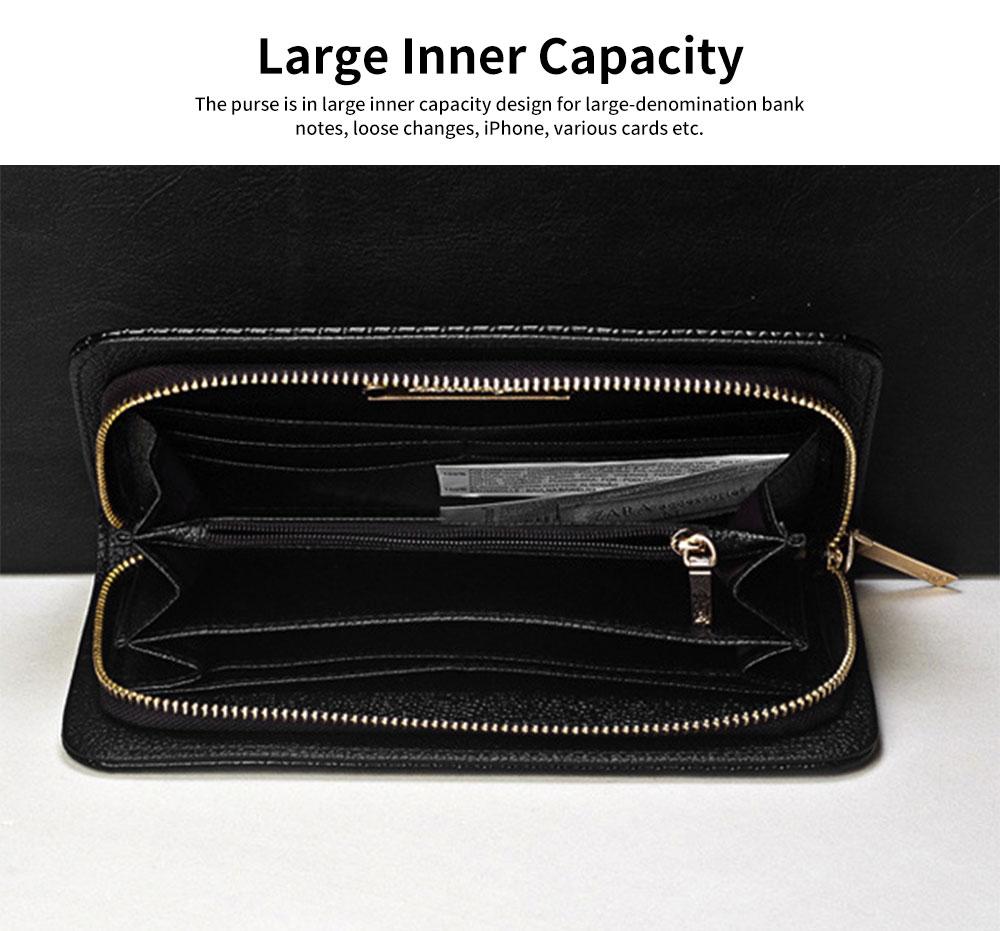Western Style Long Purses and Handbags All-match Women Zipper Purse 4