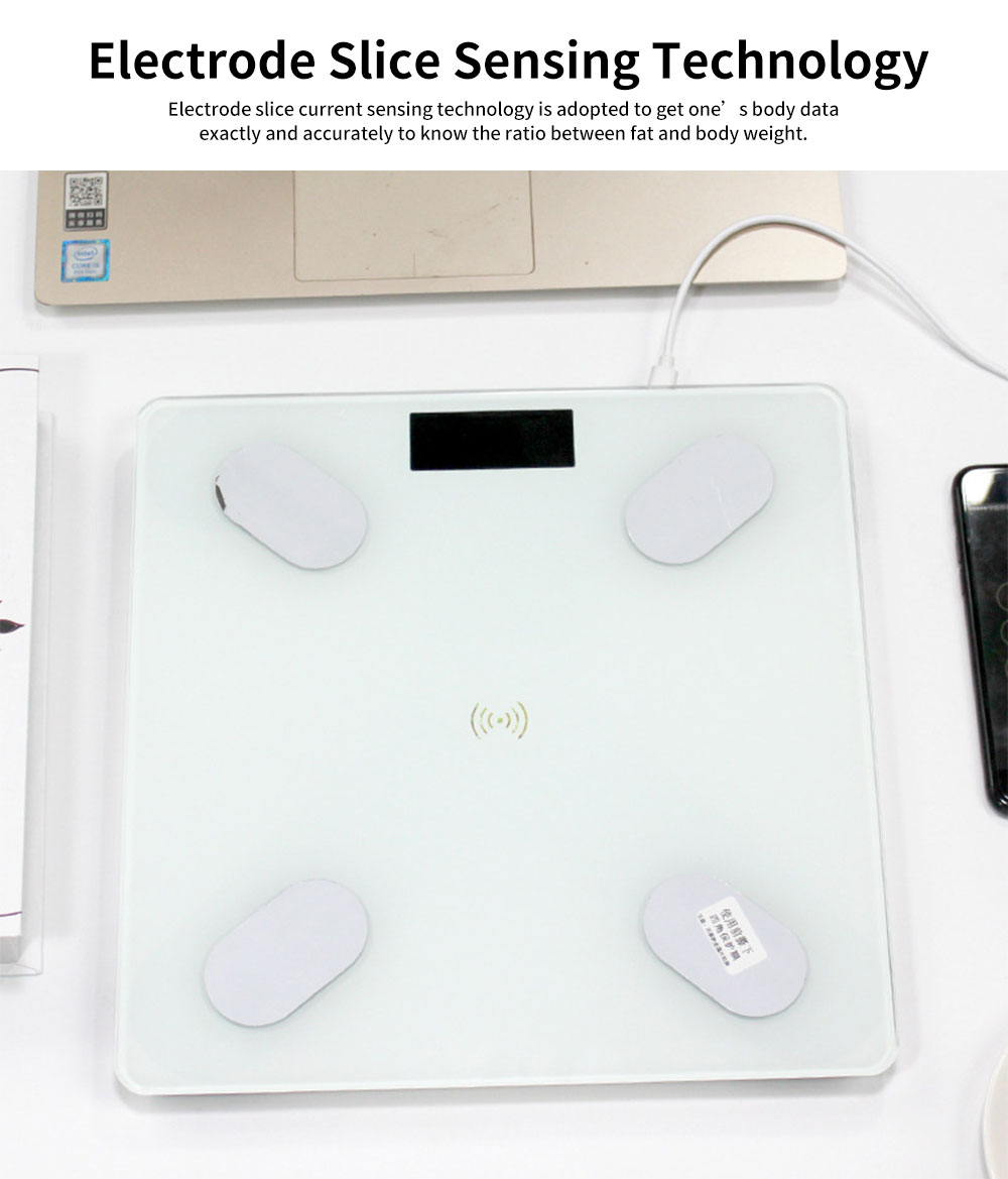 Digital Weight and Body Fat Bluetooth Scales, Bluetooth Intelligent Scale for Body Weight 4