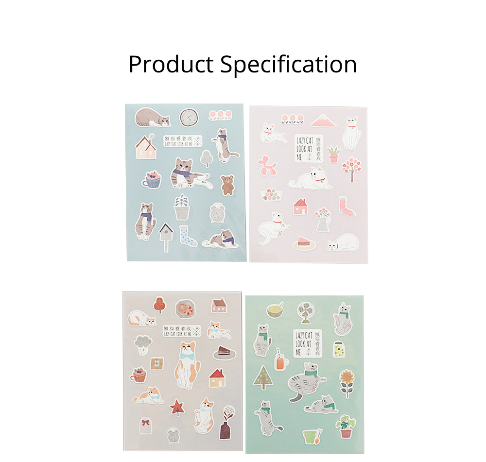 Notebook Decoration Sticker with Cute Different Pattern Bright Active Color Paper Sticker 6