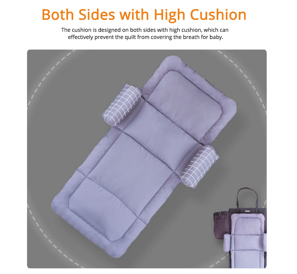Cushion Leather Cotton Material Pressure-resistant for Baby Sleep Bed Collapsible Portable for Mom Bag Soft Mat 4