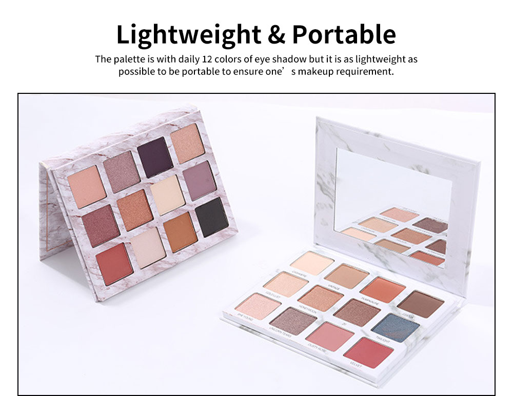 Marble Eye Shadow Palettes Classic 12 Color Daily Eye Shadow Matt Color Pearly Lustre Earth Color eyeshadow for Beauty Makeup 2