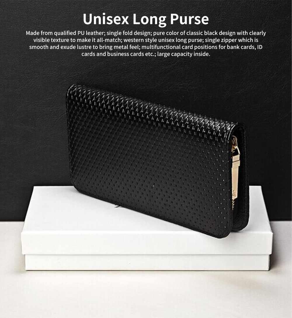 Western Style Long Purses and Handbags All-match Women Zipper Purse 0