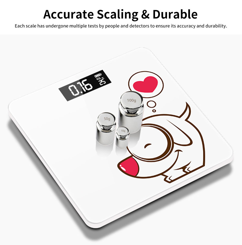 Electronic LCD Scales Grams and Ounces for Body Weight USB Chargeable Durable Adults Electronic Scale Health Scales 3