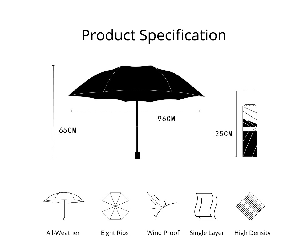 Black Gum New Innovative All-weather Umbrella UV Prevention Beach Umbrella 8