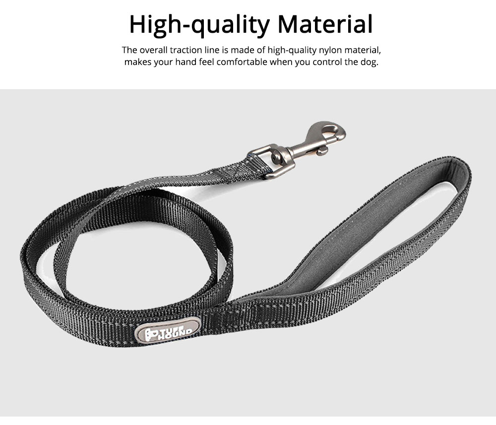 Dog Traction Thread Zinc Alloy Steel Nylon Material String Dog Leash Reflective Sewing Strong Dog Chain 2
