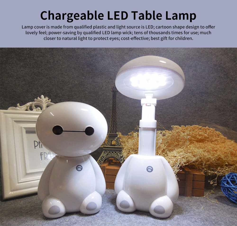 Chargeable Table Lamp for Eye Protection, Energy-saving LED Desk Lamp for Night Use, Flexible Foldable Table Lamp for Living Room 0