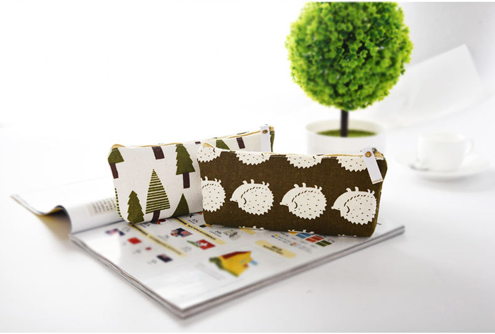 Korean Style New Creative Student Stationery Bag Cotton Linen Pen Bag for Different Patterns Optional 3