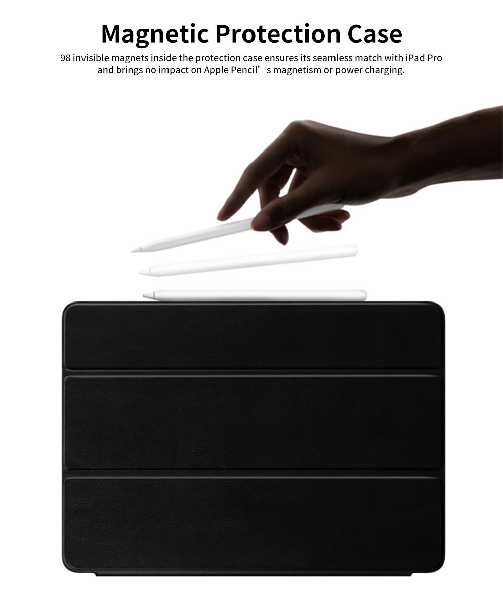 Tablet Protection Case for iPad Pro 11 2018 New iPad 11 Protective Case Tri-fold Intelligent Smart Magnetic Leather Shell Case Lightweight 5