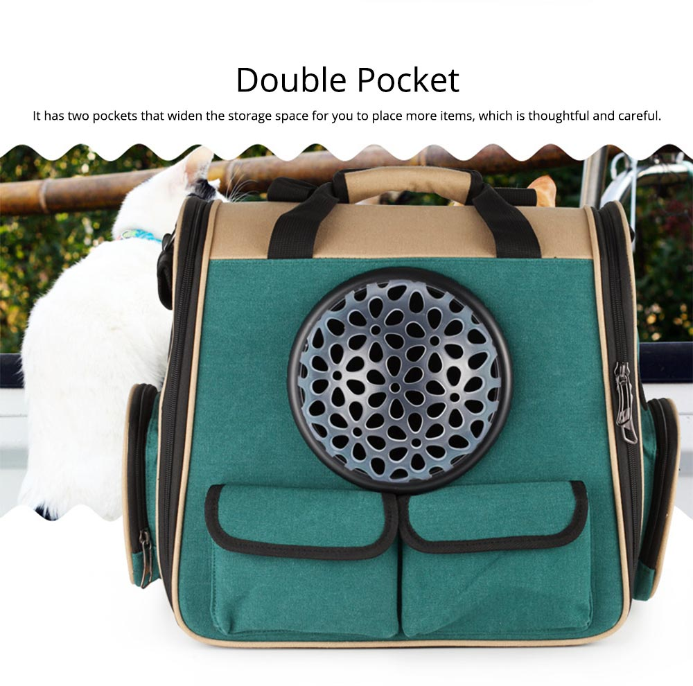 Pet Portable Handbag Canvas Space Cat Backpack Stylish Handy with Zipper Opening for Outdoor Use 5