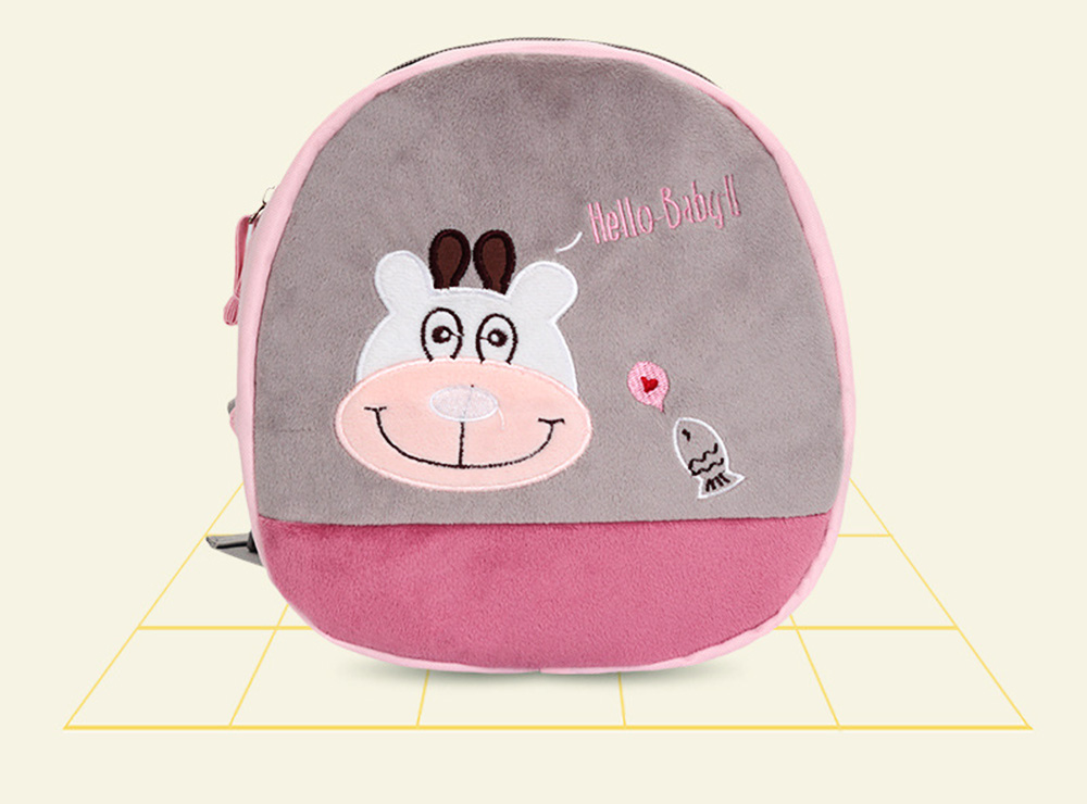 New Cartoon Cute Missing Prevention Schoolbag Backpack with Various Animals Pattern 5