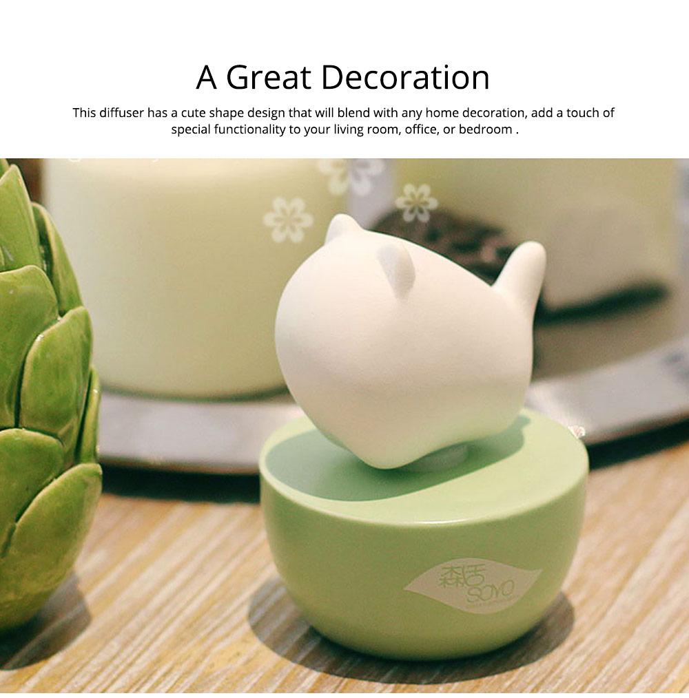 Innovative Pet Ceramic Aromatherapy Case Set Eco-friendly Fresh with Essential Oil 4