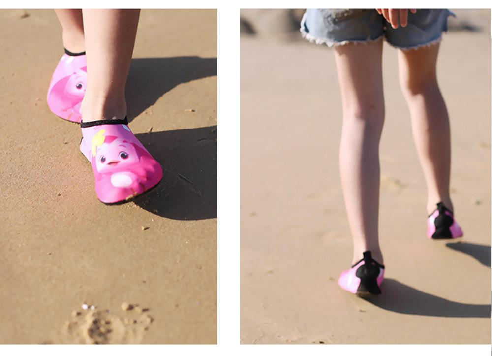 Kids EVA Rubber Soft Swimming Shoes for Swim Diving Wade Breathable Light Anti-slip Beachwear Shoes for Boy Girl 7