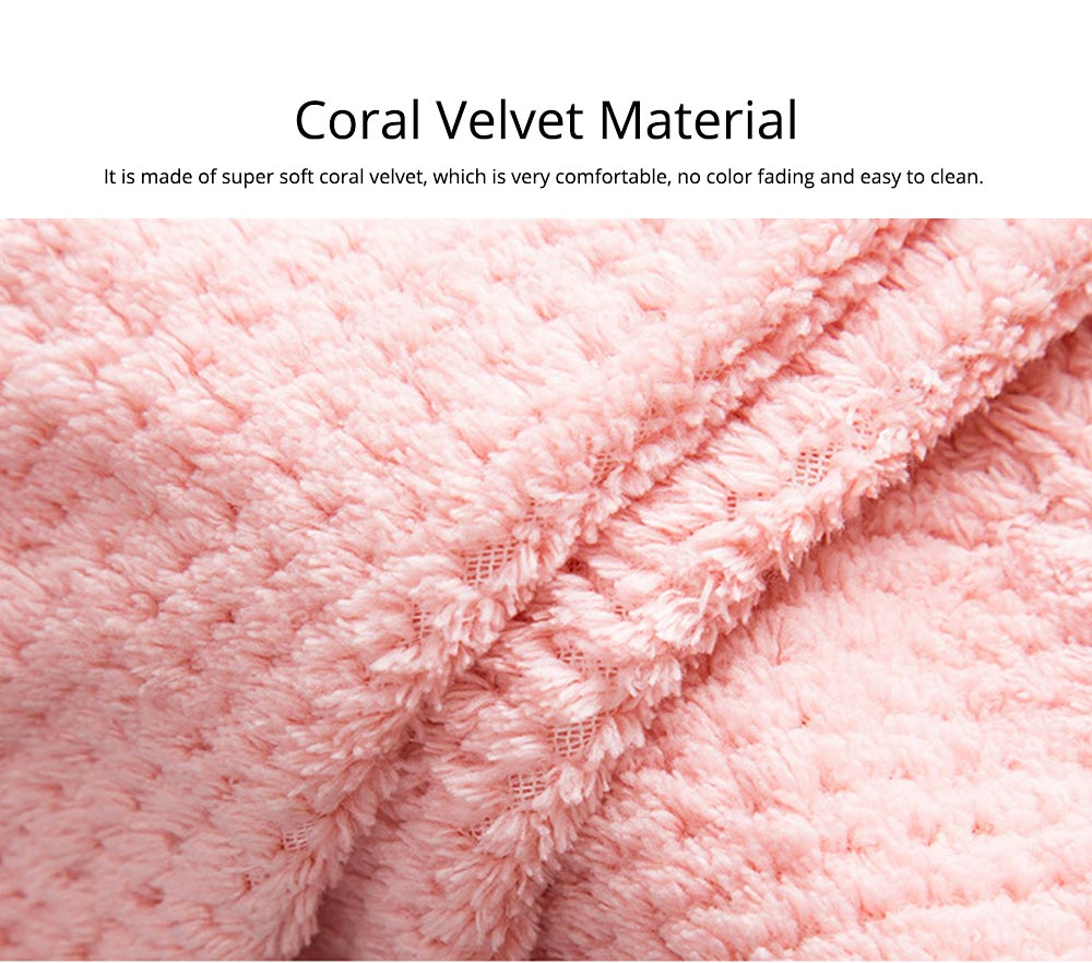 Coral Velvet Wipes Cleaning Cloth Super Absorbent Dish Towels Kitchen Washing Dishcloths 2