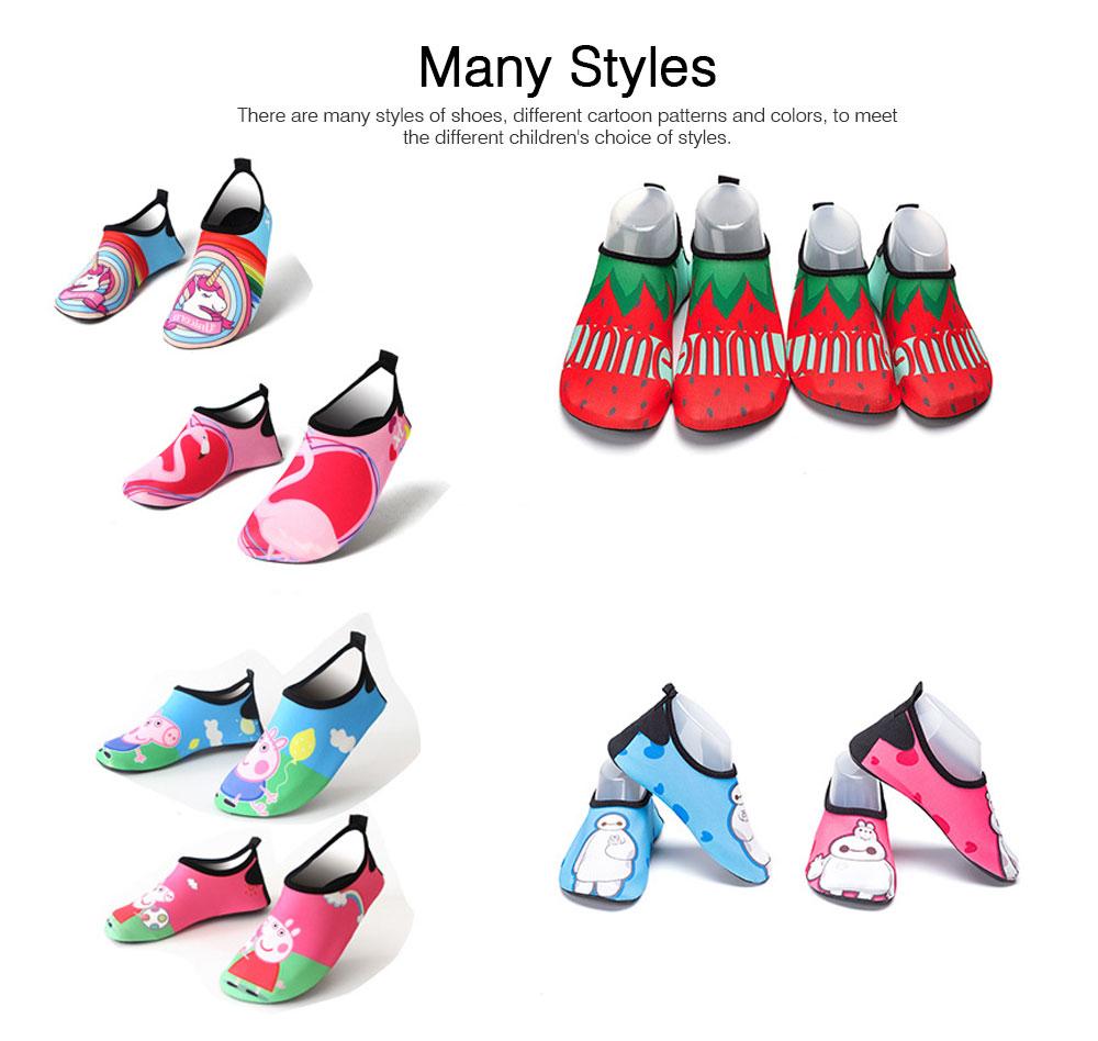 Kids EVA Rubber Soft Swimming Shoes for Swim Diving Wade Breathable Light Anti-slip Beachwear Shoes for Boy Girl 5