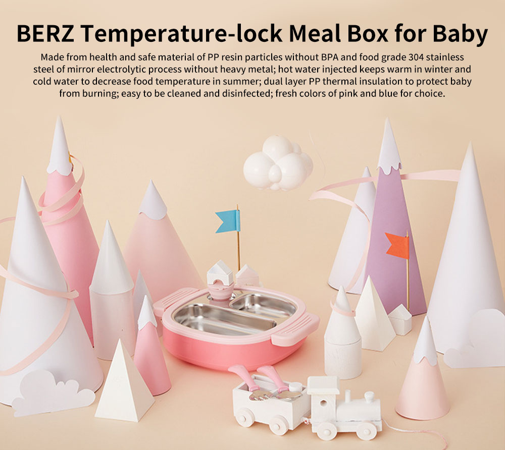 Temperature-lock Meal Box for Babies, Separation Removable Meal Boxes of Complementary Food for Infants Baby Tableware Thermal Lunch Box 0