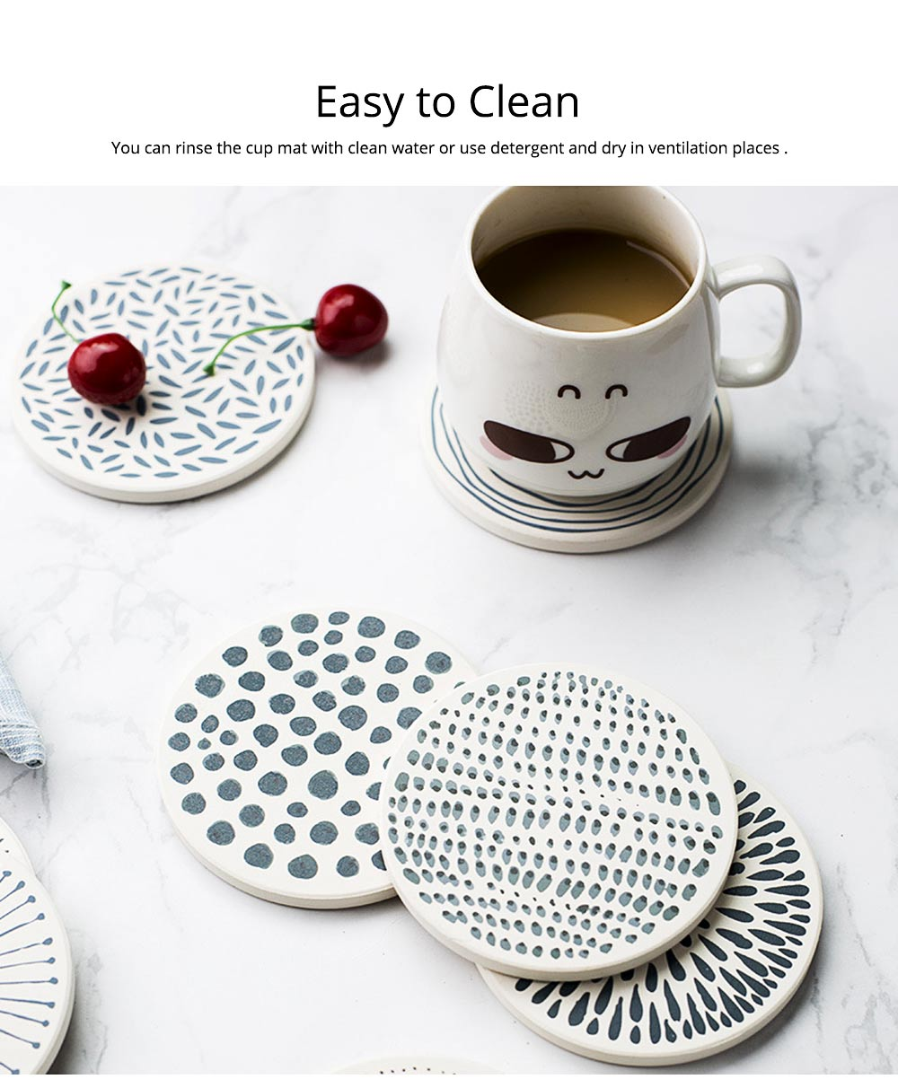 Coasters Diatomite Cup Holders Eco-Friendly Quick Dry Mat Fit for All Cups Home Office 3