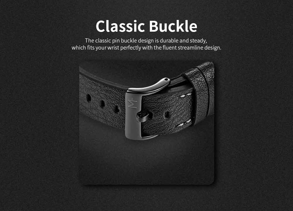 Wrist Watch for Men, Hard-wearing Waterproof Luminous Quartz Watch with Japanese Movement Breathable Genuine Leather Strap 7