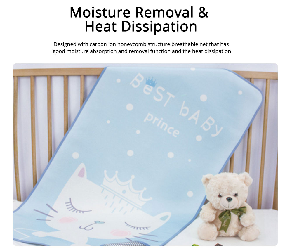 Cotton Natural Fibre Material Bed-mat Moisture Removal Mat Mould-proof for Baby Sleep Bed Summer Soft Cushion 1