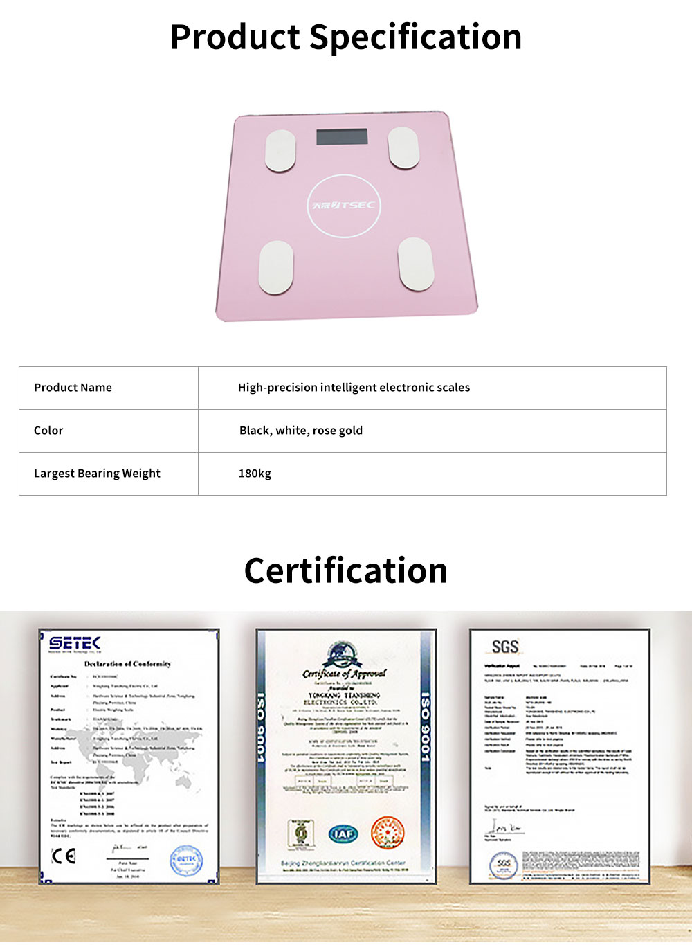 High-precision Intelligent Electronic Scales for Female Body Weight Scale Grams and Ounces Bluetooth Scale Battery Body Fat Calculator Muscle Skeleton Water 6