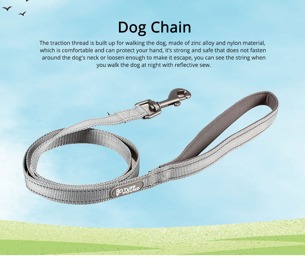 Dog Traction Thread Zinc Alloy Steel Nylon Material String Dog Leash Reflective Sewing Strong Dog Chain 0